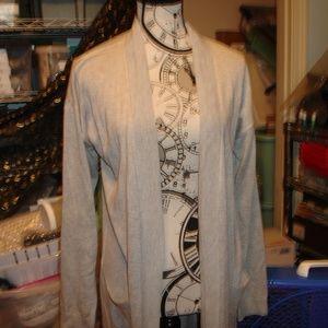 Worthington long cardigan no button no zip poly M